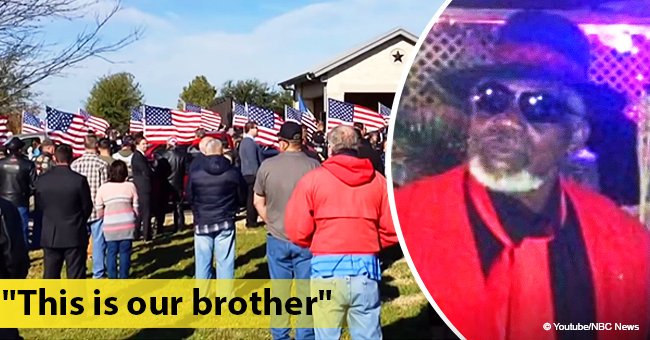After learning Texas Air Force veteran had no family, more than 1,000 strangers attend his funeral
