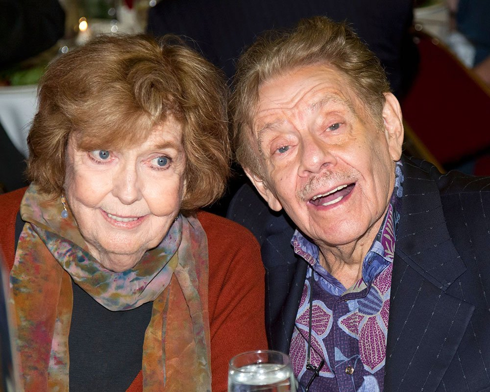 Jerry Stiller and his late wife Anne Meara at the 62nd Annual Outer Critics Circle Awards in New York City in 2012. I Image: Getty Images.