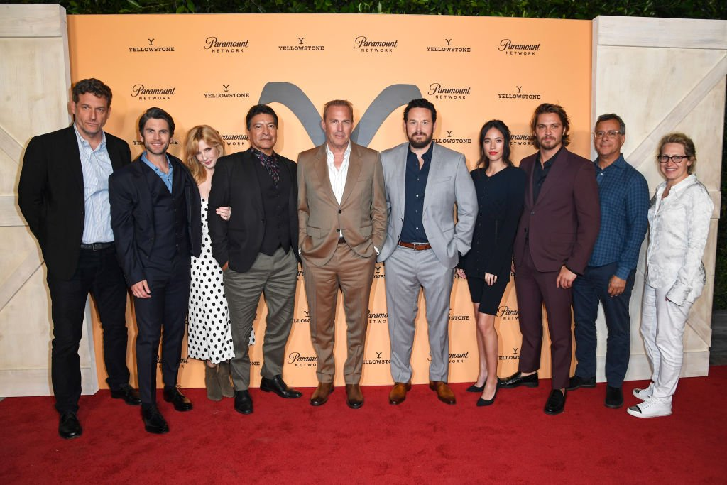 """Cast of """"Yellowstone"""" at Paramount Network's """"Yellowstone"""" Season 2 Premiere Party at Lombardi House on May 30, 2019 in Los Angeles, California 