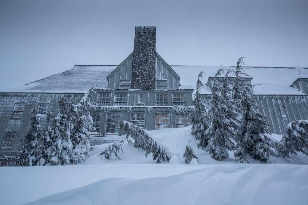 "The exterior of the historic Timberline Lodge became the fictional Overlook Hotel in Stanley Kubrick's horror masterpiece film, ""The Shining."" 