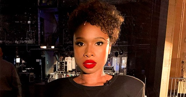 'American Idol' Alum Jennifer Hudson Shows off Long Nails & Pink Outfit with Plunging Neckline