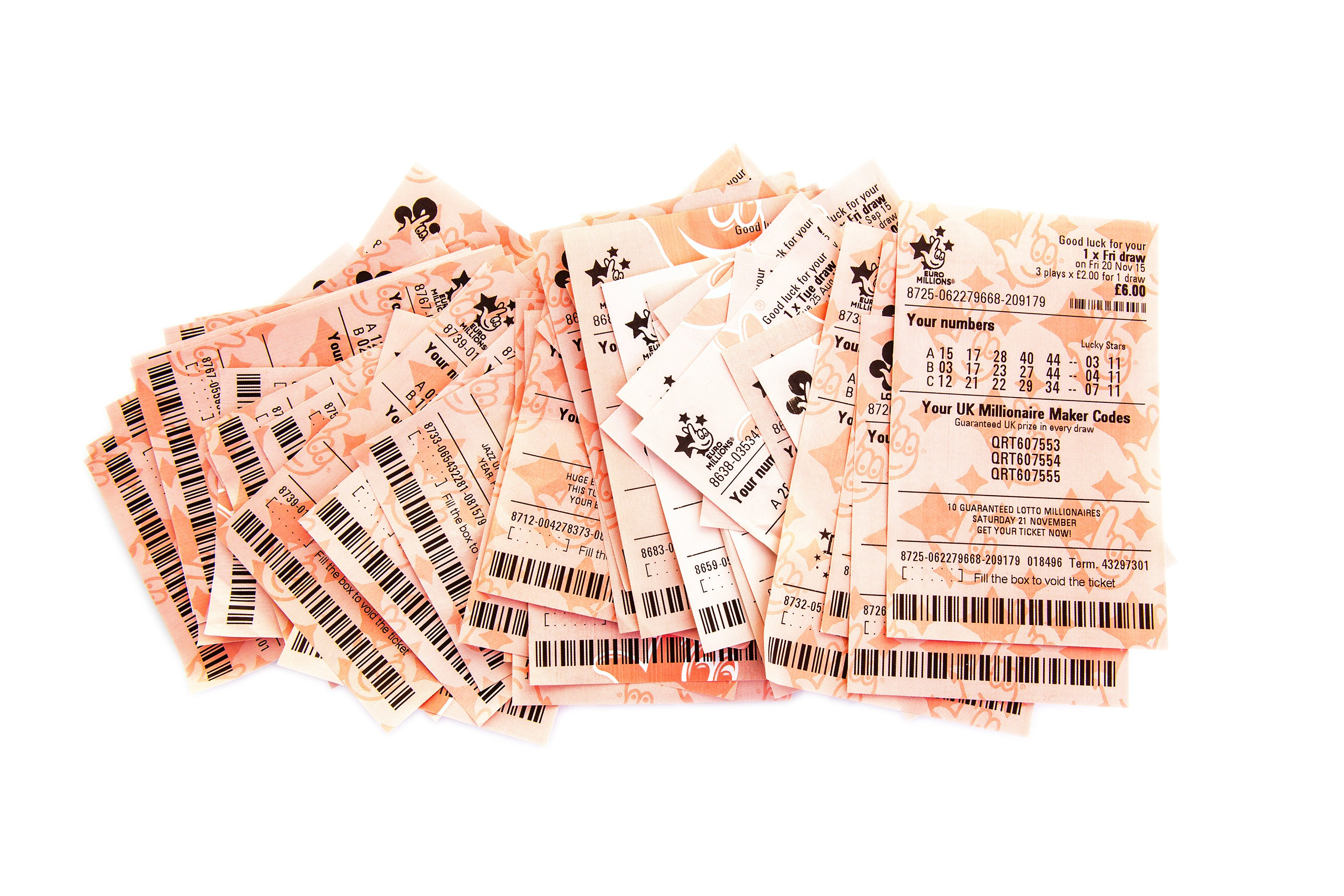 Several lottery tickets without a prize | Photo: Shutterstock