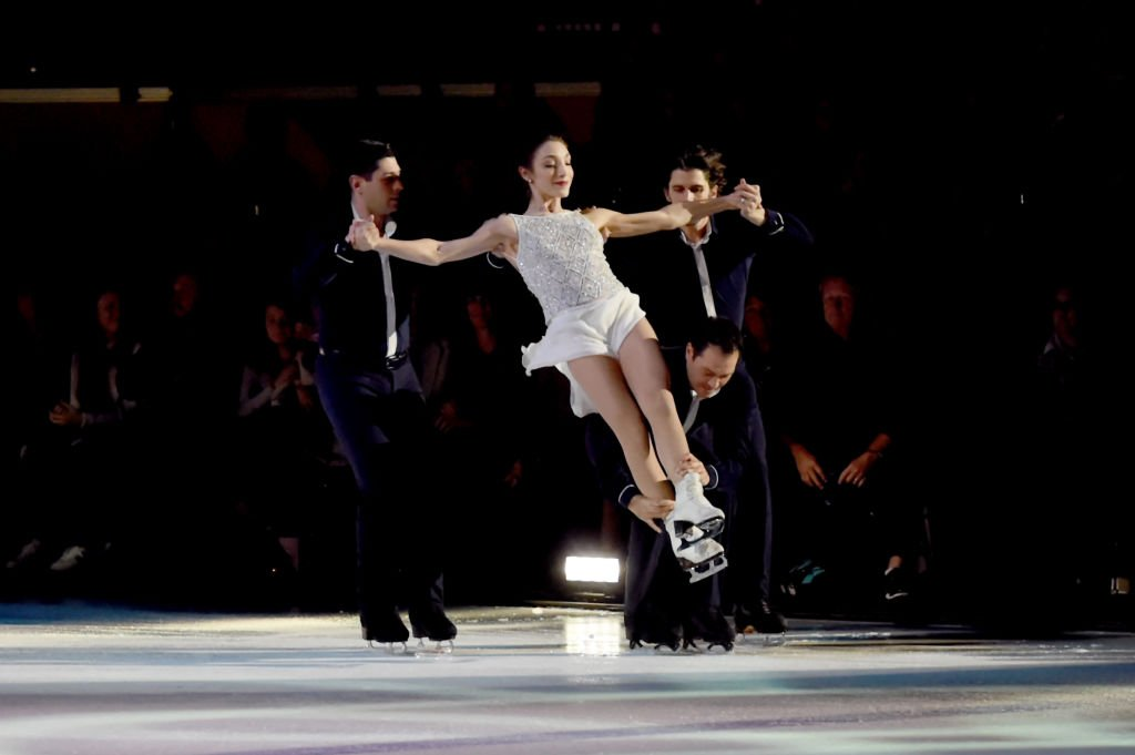 """Brent Bommentre, Meryl Davis, Steven Cousins and John Kerr perform during the second annual """"An Evening Of Scott Hamilton & Friends"""" hosted by Scott Hamilton to benefit The Scott Hamilton CARES Foundation   Getty Images"""