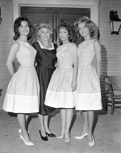 """Portrait of an early version of the cast of """"Petticoat Junction,"""" in California on April 24, 1963   Source: Getty Images"""