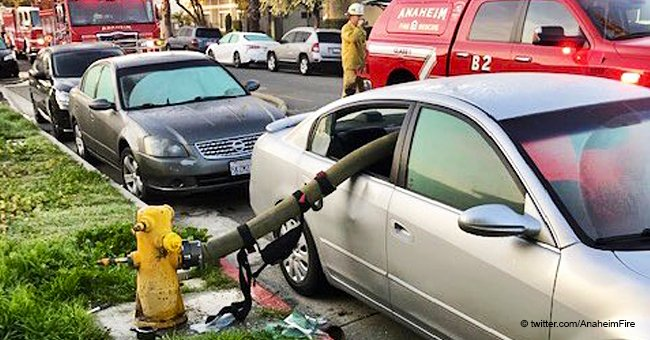 Fire Department's Graphic Reminder of Why You Should Never Park in Front of Hydrants Goes Viral