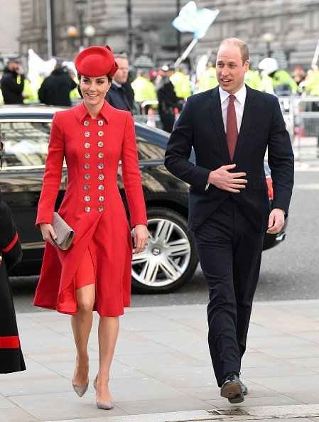 Catherine, Duchesse de Cambridge et Prince William, duc de Cambridge assistent au service du Jour du Commonwealth | Photo : Getty Images