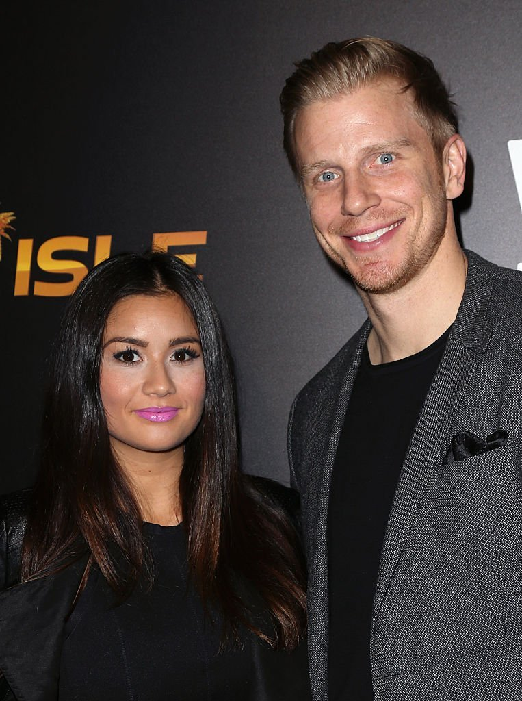 TV personalities Catherine Giudici (L) and Sean Lowe attend We tv's celebration of the premieres of 'Marriage Boot Camp Reality Stars' and 'Ex-isled' at Le Jardin | Photo: Getty Images