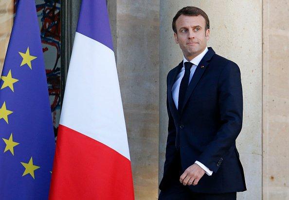 Emmanuel Macron organise une rencontre sur les défis du multilatéralisme au Palais de l'Elysée à Paris le 26 MARS   Photo : Getty Images