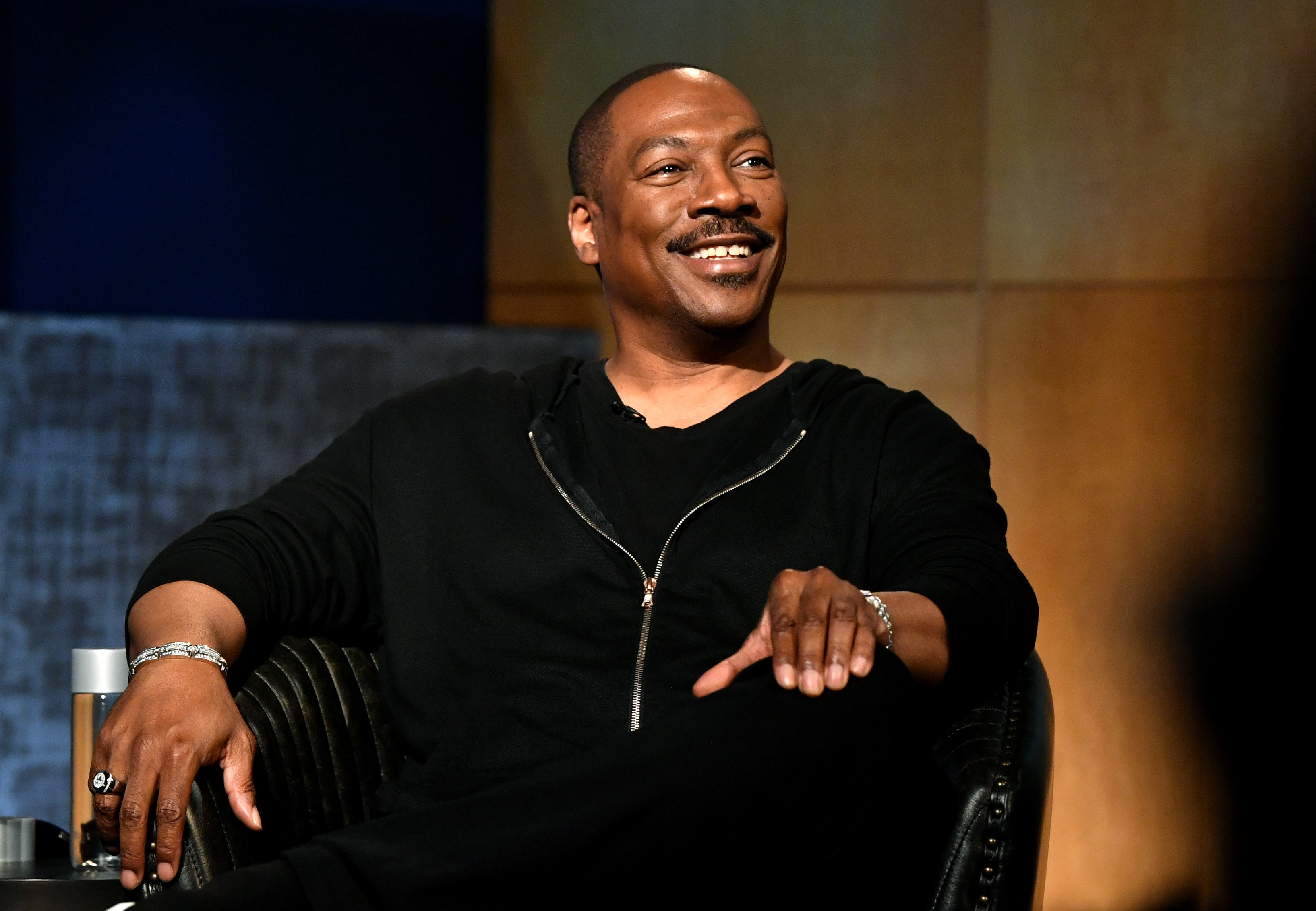 Eddie Murphy speaks onstage during the LA Tastemaker event for Comedians in Cars at The Paley Center for Media | Photo: Getty Images