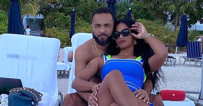 Joseline Hernandez Is Booed up with Boyfriend DJ Ballistic as They Snuggle on the Beach (Photo)