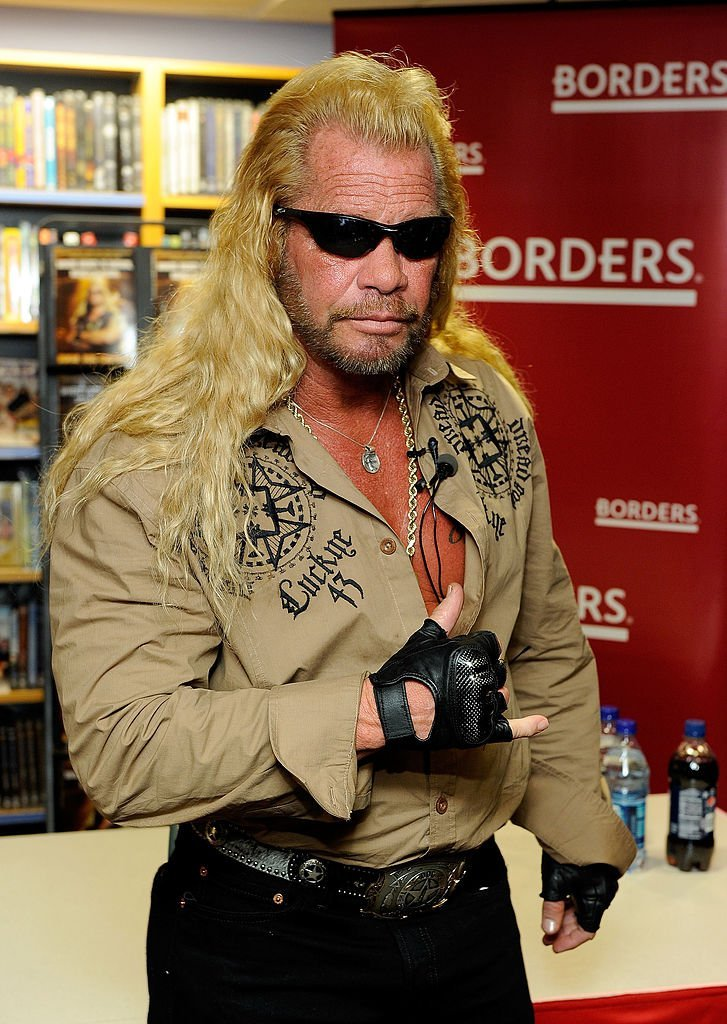 "Media personality Duane Chapman, known as ""Dog the Bounty Hunter"" promotes his book ""When Mercy Is Shown, Mercy Is Given"" at Borders Wall Street on March 19, 2010. 