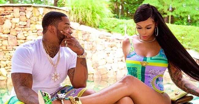 See Lil Scrappy's Wife Bambi's Postpartum Body in a Swimsuit Three Weeks after Giving Birth