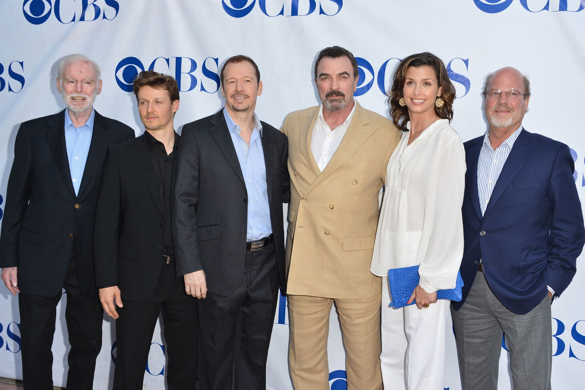 Producer Leonard Goldberg, actors Donnie Wahlberg, Tom Selleck, Bridget Moynahan, Will Estes and producer Kevin Wade arrive to a screening | Getty Images