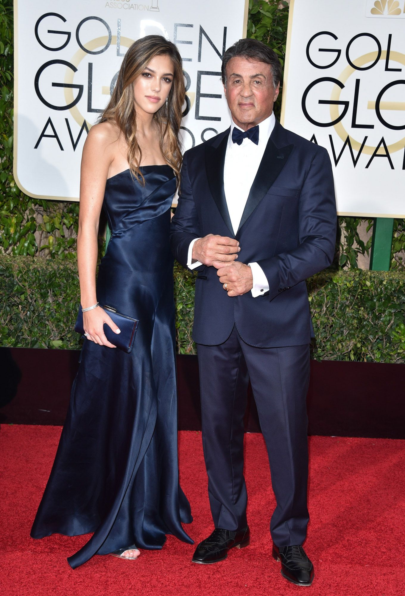 Scarlet Stallone and Sylvester Stallone at the 73rd Annual Golden Globe Awards held at The Beverly Hilton Hotel on January 10, 2016 in Beverly Hills, California.   Photo: Getty Images
