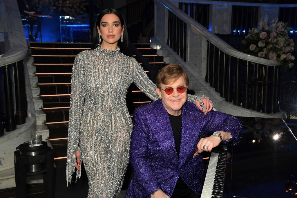 Dua Lipa and Sir Elton John at the 29th Annual Elton John AIDS Foundation Academy Awards Viewing Party on April 25, 2021 | Photo: Getty Images