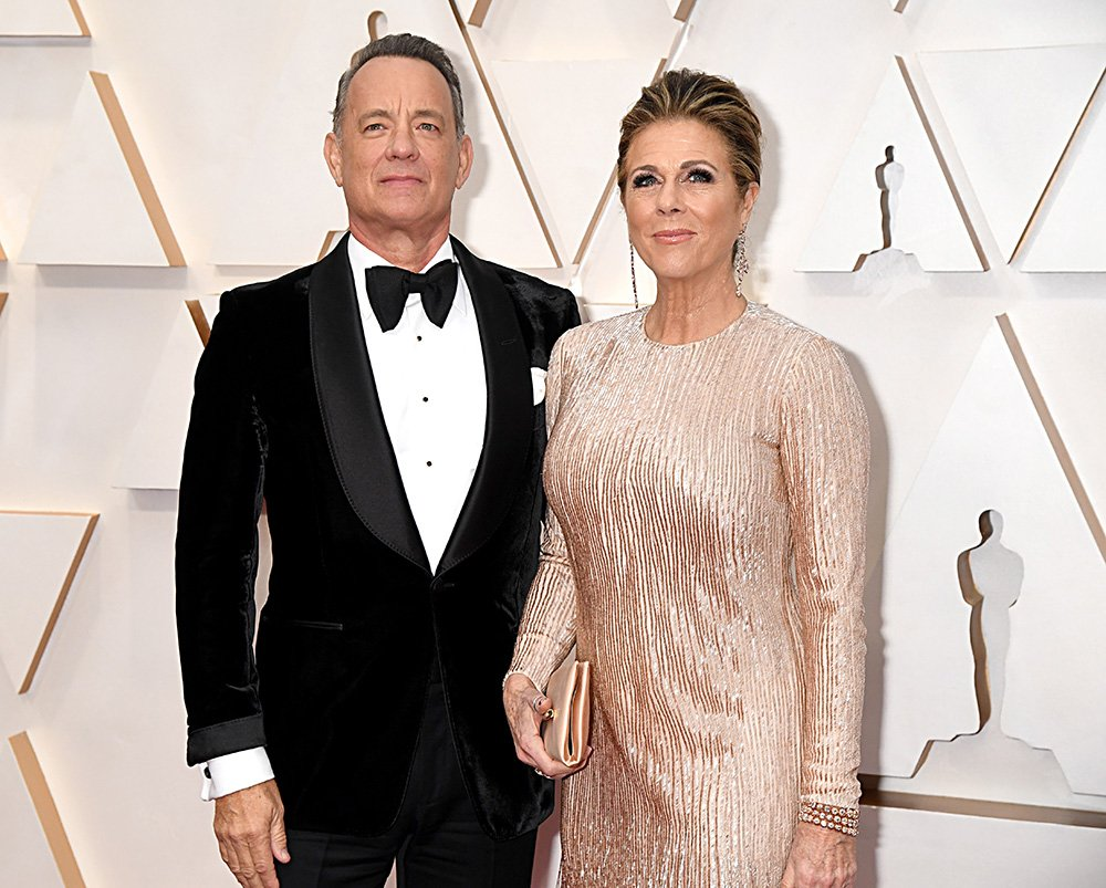 Tom Hanks and Rita Wilson attending the 92nd Annual Academy Awards at Hollywood and Highland in Hollywood, California in February 2020. I Image: Getty Images.