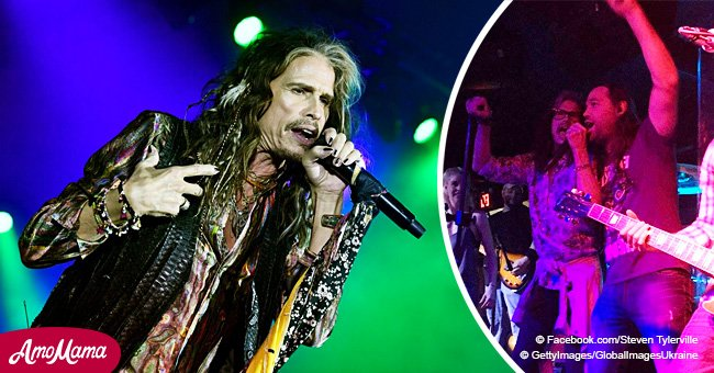Video of Steven Tyler joining a bar band for impromptu performance proves why he is a rock star
