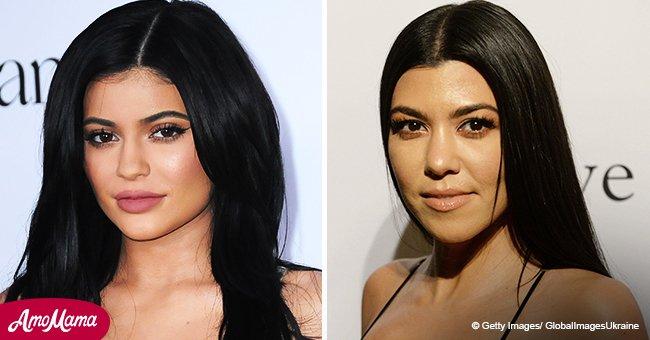 Kylie Jenner, 20, and Kourtney Kardashian, 39, look like twins as they pose in white bikinis