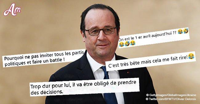 François Hollande a reçu une offre de 'Qui veut gagner des millions', ce qui a amusé les internautes