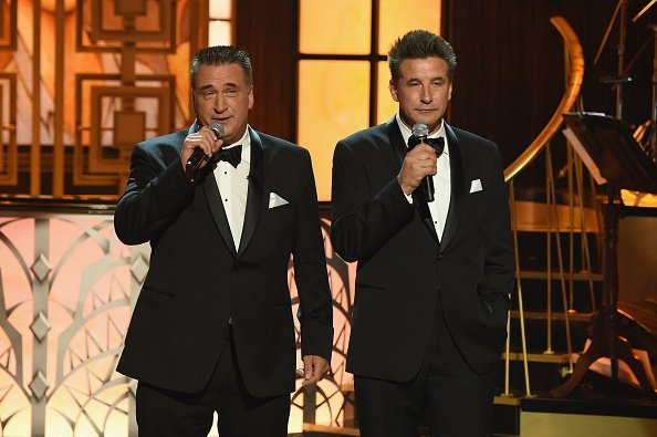 """Daniel Baldwin and Billy Baldwin speak onstage during """"Spike's One Night Only: Alec Baldwin"""" at The Apollo Theater on June 25, 2017, in New York City.   Source: Getty Images."""