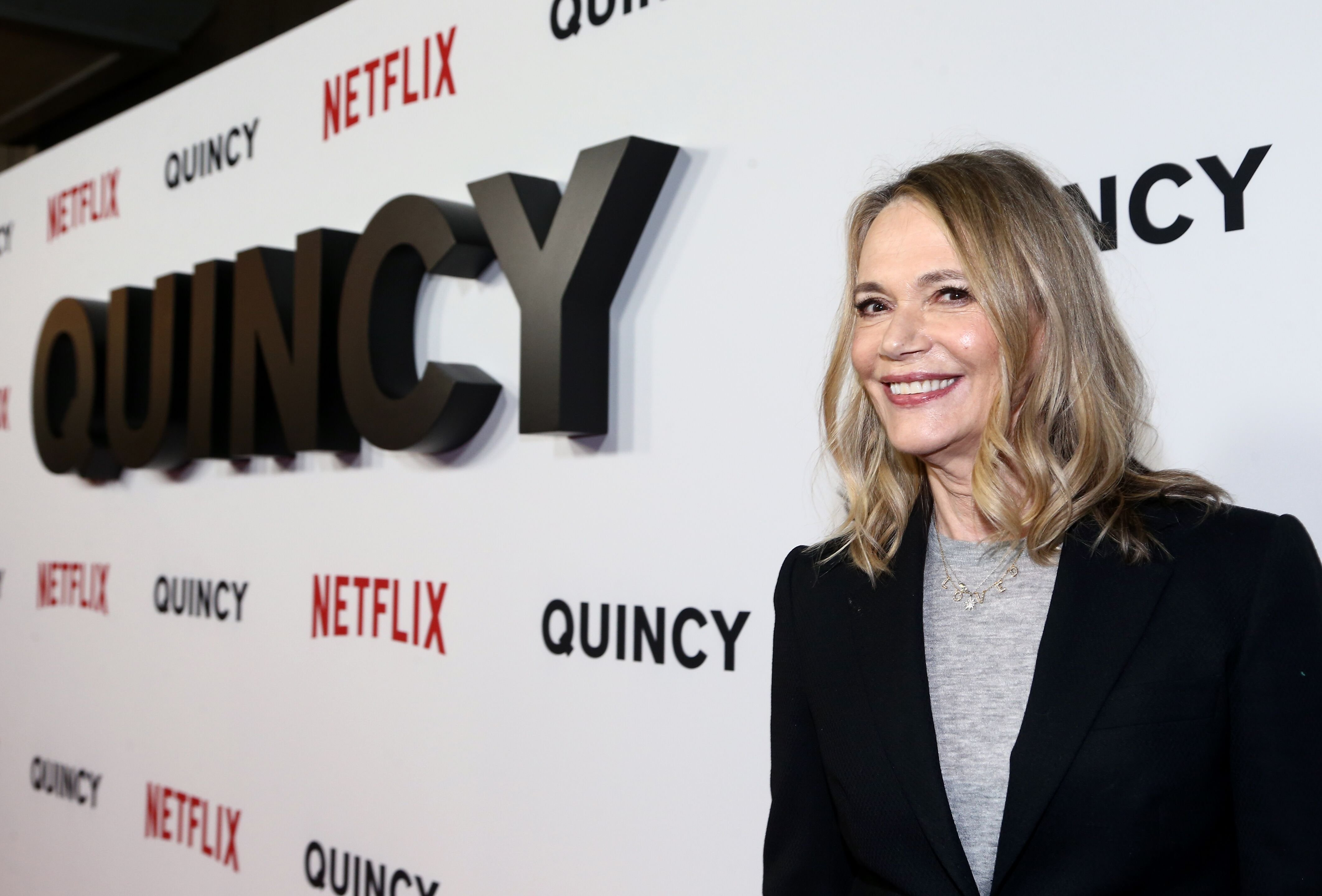 """Peggy Lipton at the premiere of Netflix's """"Quincy."""" 