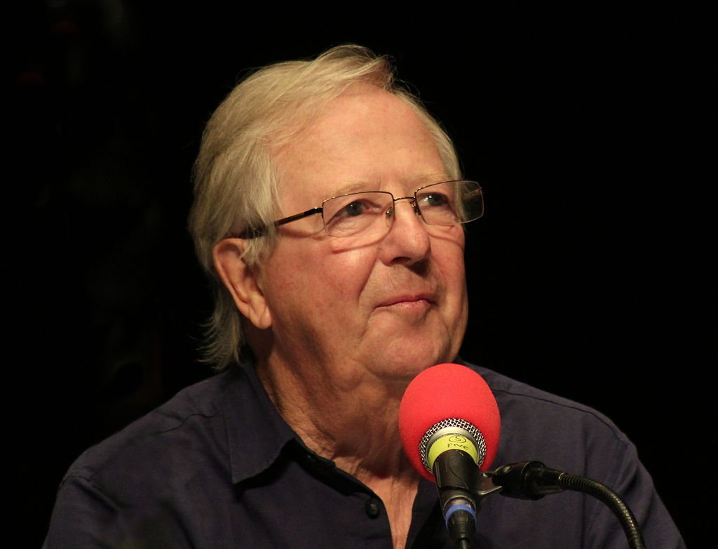 """Tim Brooke-Taylor recording """"I'm Sorry I Haven't a Clue"""" in Richmond Theatre on November 2, 2014 