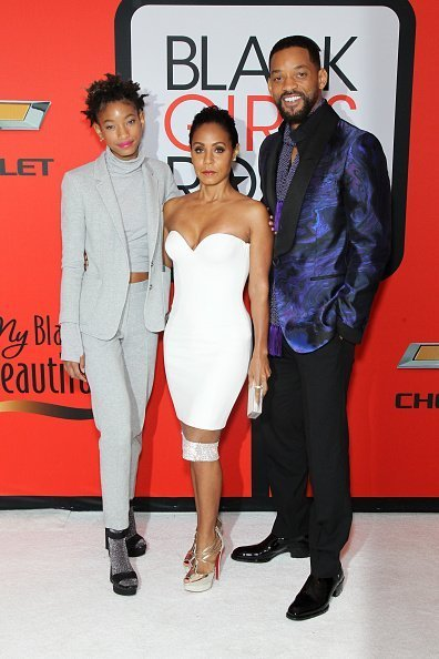 "Willow Smith, Jada Pinkett Smith, and Will Smith attend the BET's ""Black Girls Rock!"" Red Carpet sponsored by Chevrolet at NJPAC – Prudential Hall on March 28, 2015 in Newark, New Jersey 