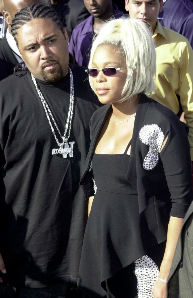 """Mack 10 and Tionne """"T-Boz"""" Watkins arrive at the Source Hip-Hop Music Awards on August 22, 2000, in Pasadena, California   Source: Getty Images (Photo by Steve W. Grayson/Online USA)"""