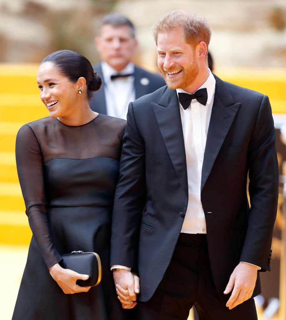 """Meghan Markle and Prince Harry attend """"The Lion King"""" European Premiere at Leicester Square in London 