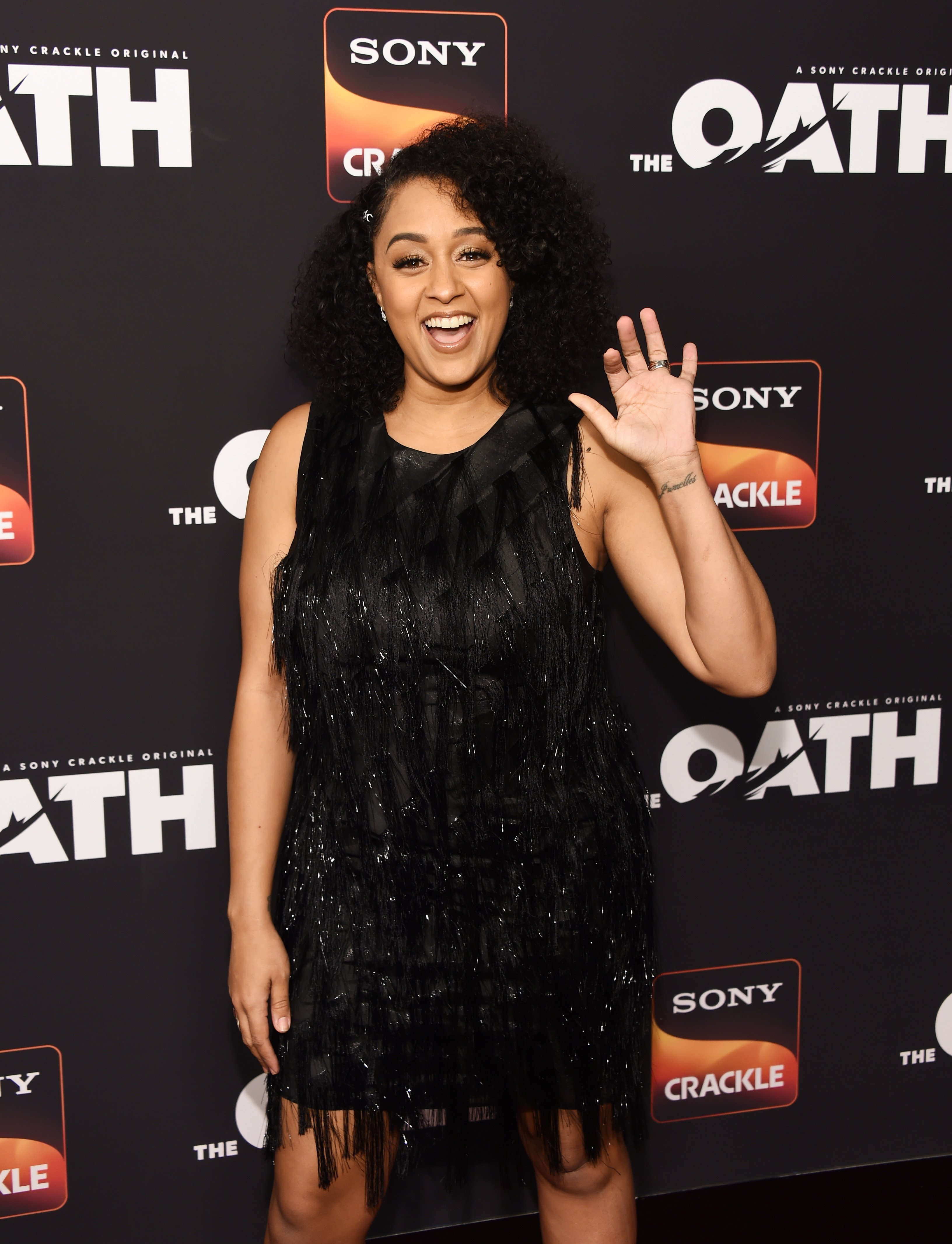"Tia Mowry arrives at Sony Crackle's ""The Oath"" Season 2 exclusive screening event at Paloma on February 20, 2019 in Los Angeles, California. I Photo: Getty Images"