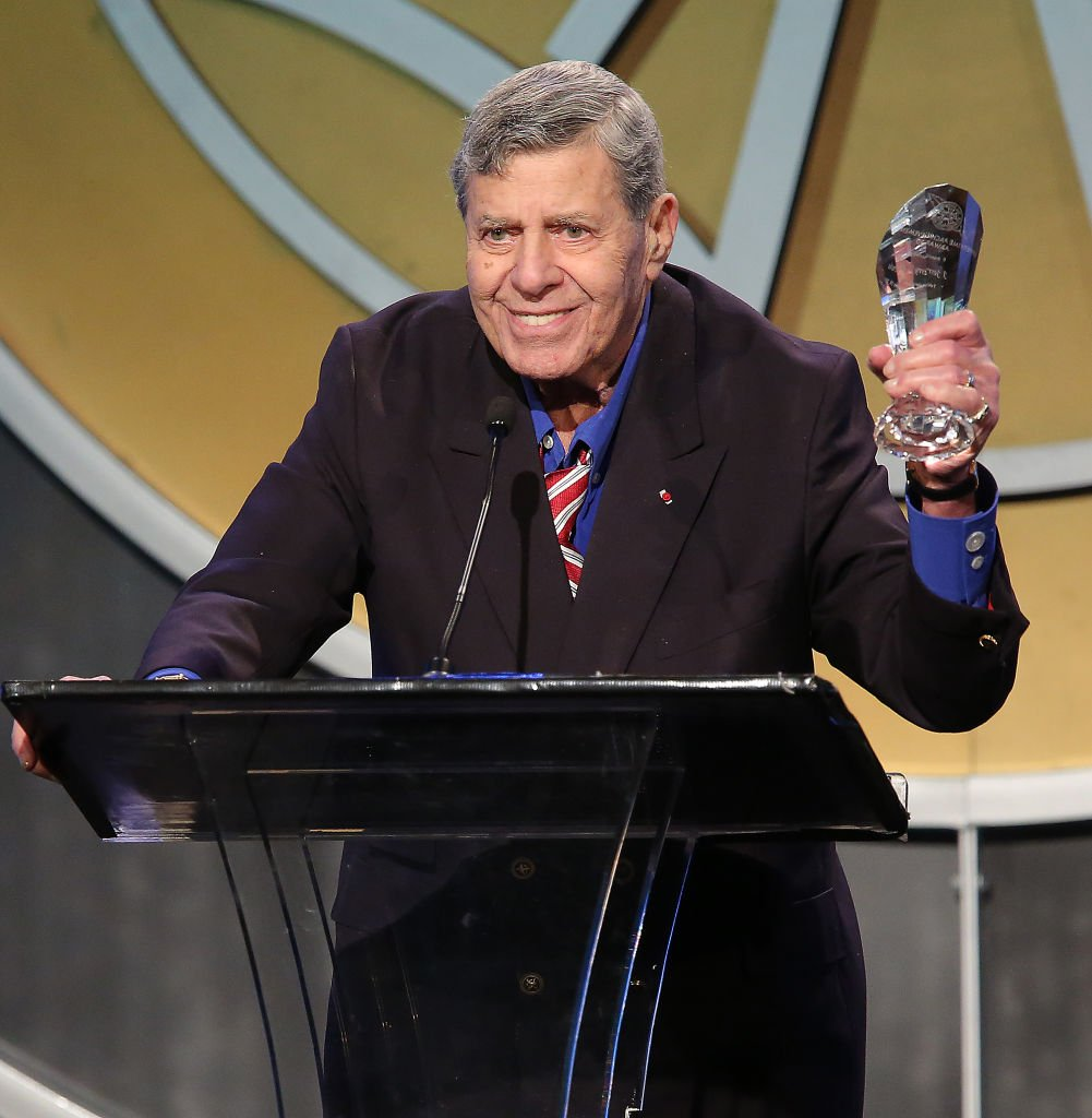 The Lifetime Achievement Award recipient Jerry Lewis at the 51st Annual ICG Publicists Awards held at the Beverly Wilshire Four Seasons Hotel on February 28, 2014   Photo: Getty Images
