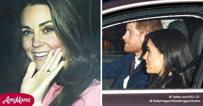 Primeros detalles de almuerzo navideño de Reina: Pelo suelto de Meghan y atuendo rosa claro de Kate