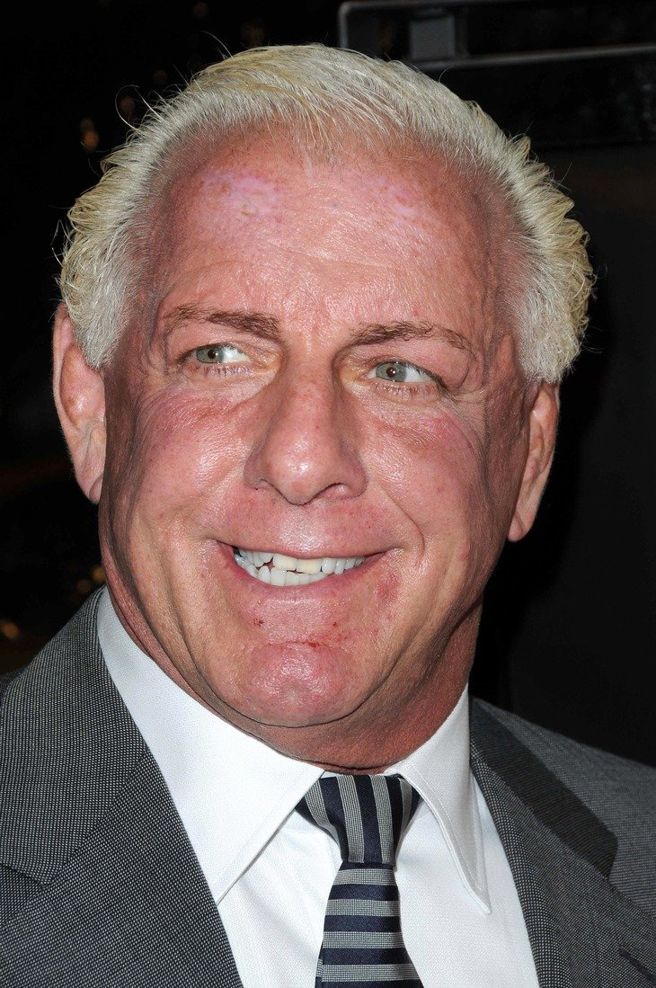 """Ric Flair attends the premiere of """"The Wrestler"""" in Los Angeles, California on December 16, 2008 