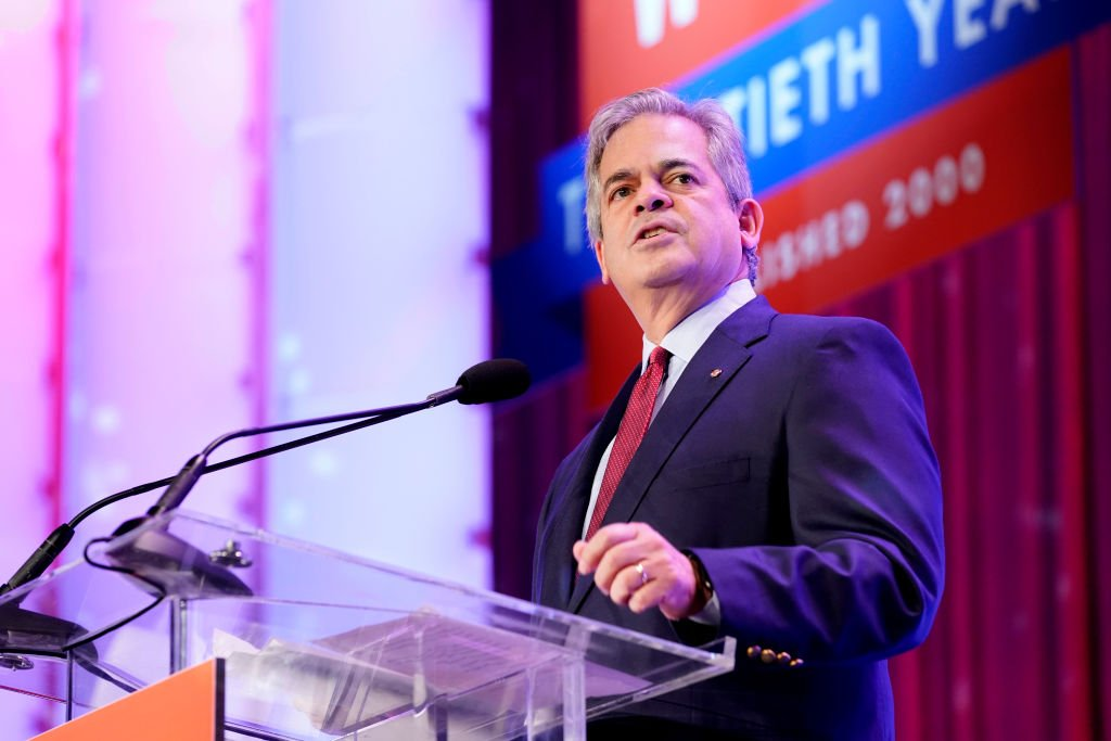 Austin's 52nd Mayor Steve Adler speaks on stage during Texas Conference For Women 2019 at Austin Convention Center on October 24, 2019 | Photo: Getty Images