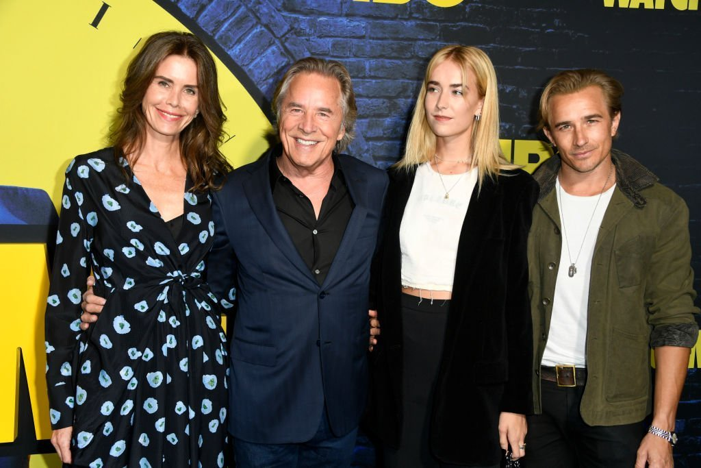 "Kelley Phleger, Don Johnson Grace Johnson, and Jesse Johnson attend the Premiere Of HBO's ""Watchmen"" on October 14, 2019. 