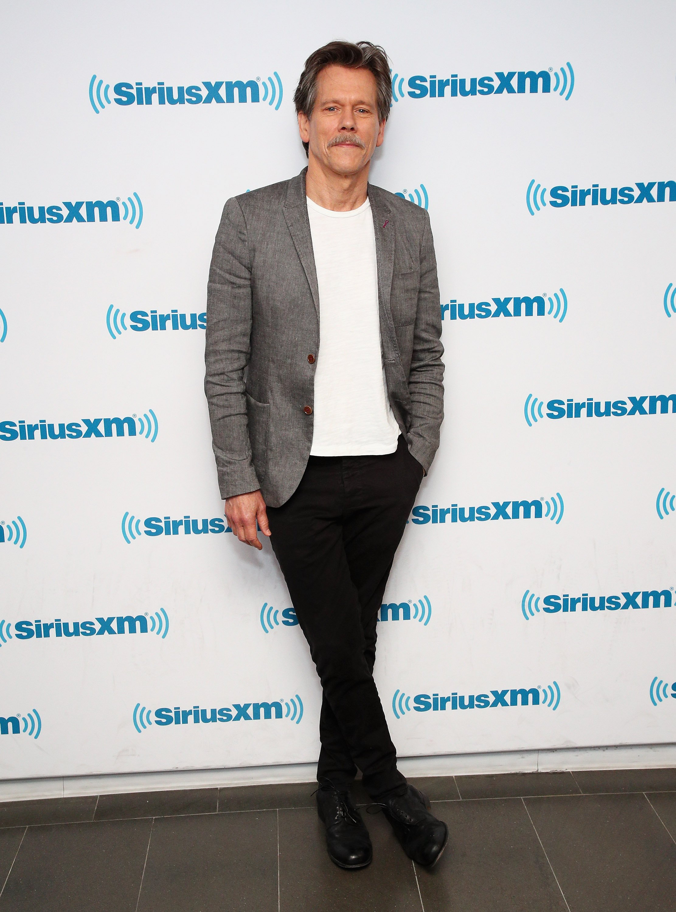 Kevin Bacon visits the SiriusXM Studios on June 13, 2019, in New York City. | Source: Getty Images.
