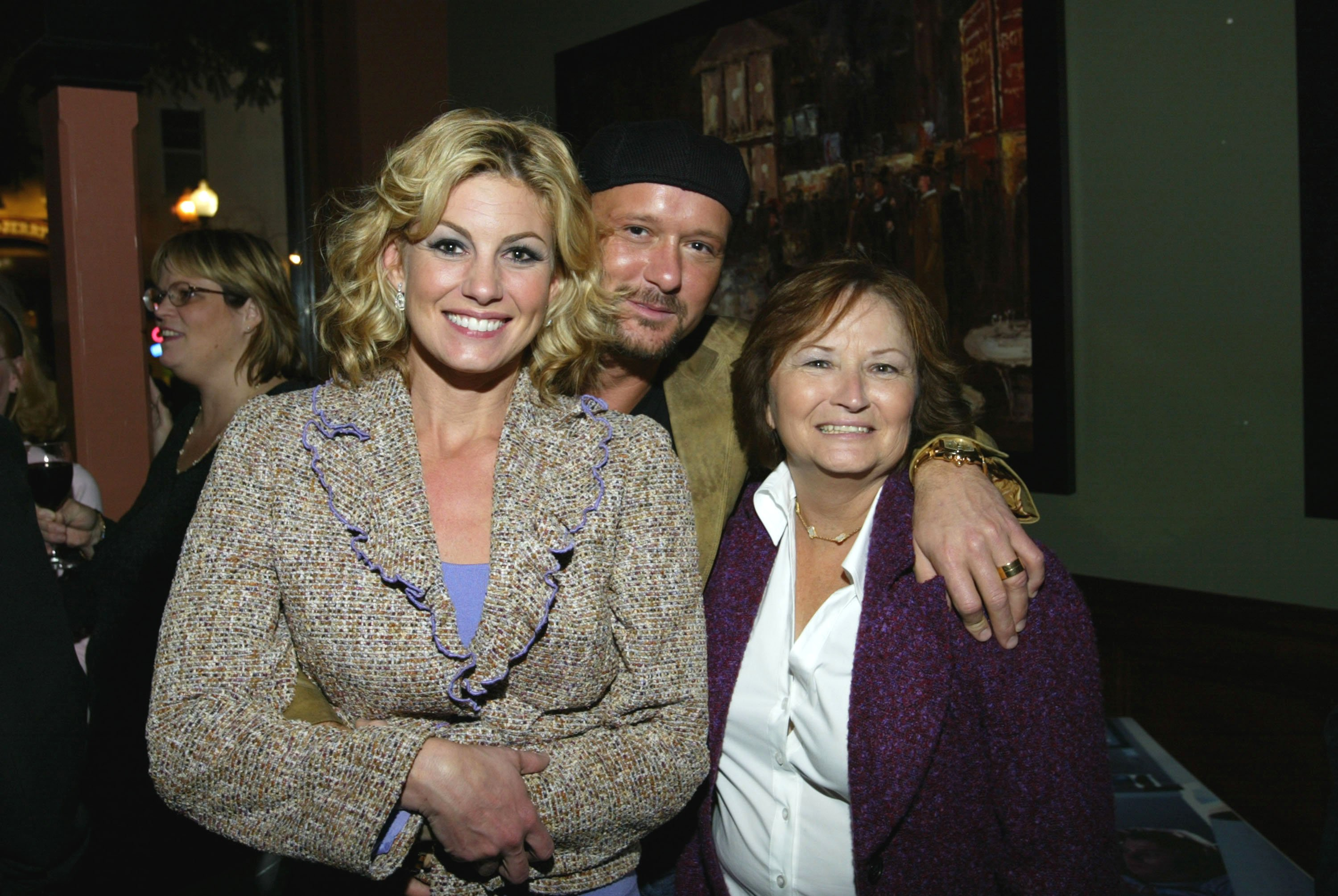 """Faith Hill, Tim McGraw and Tim's mother attend the after party to celebrate the premiere of Tim McGraw 's """"Friday Night Lights."""" 