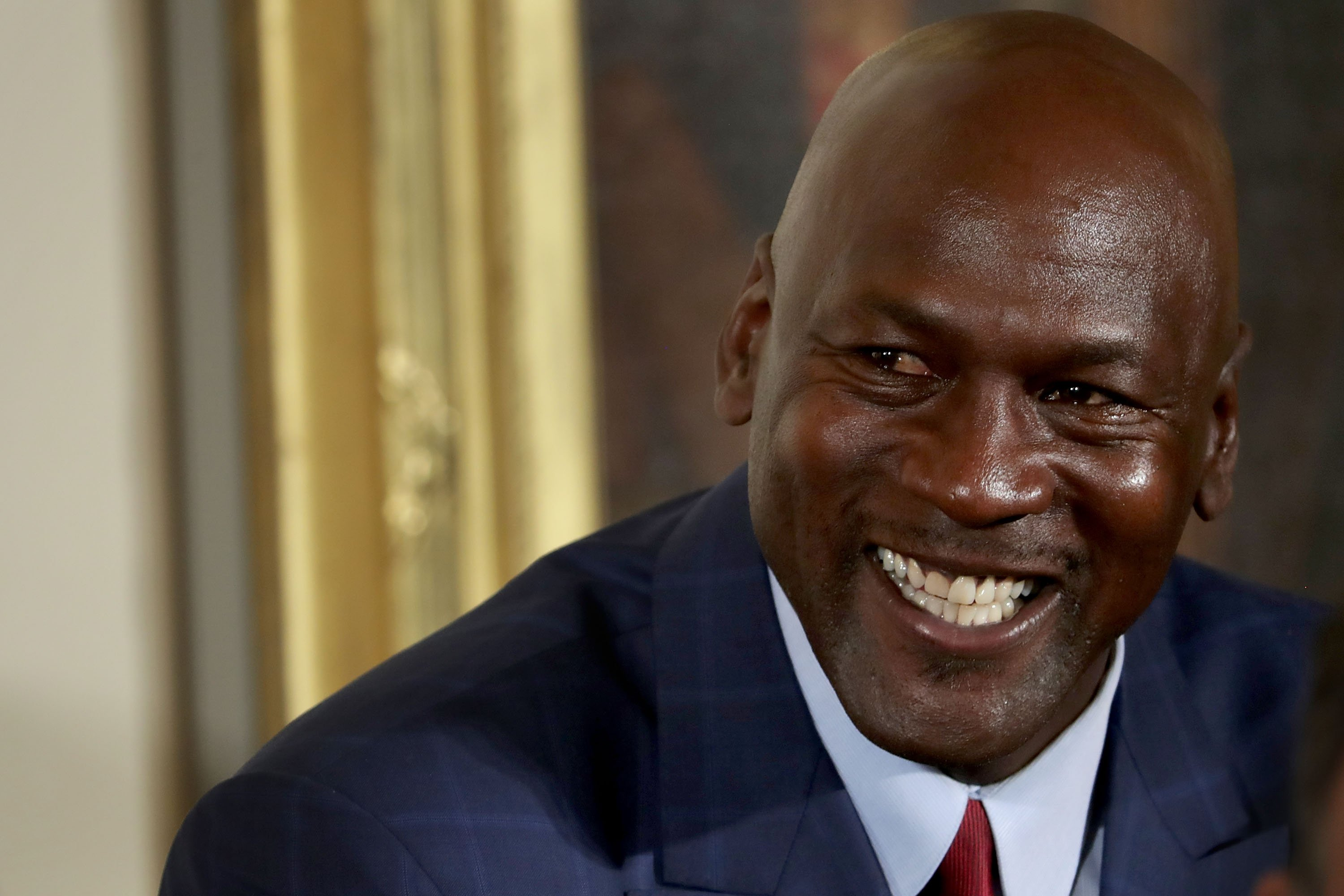 Michael Jordan before being awarded the Presidential Medal of Freedom by U.S. President Barack Obama on November 22, 2016. | Photo: GettyImages