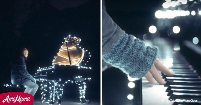 Un homme lie 500 000 ampoules aux touches de son piano tout cela pour une performance à couper le souffle