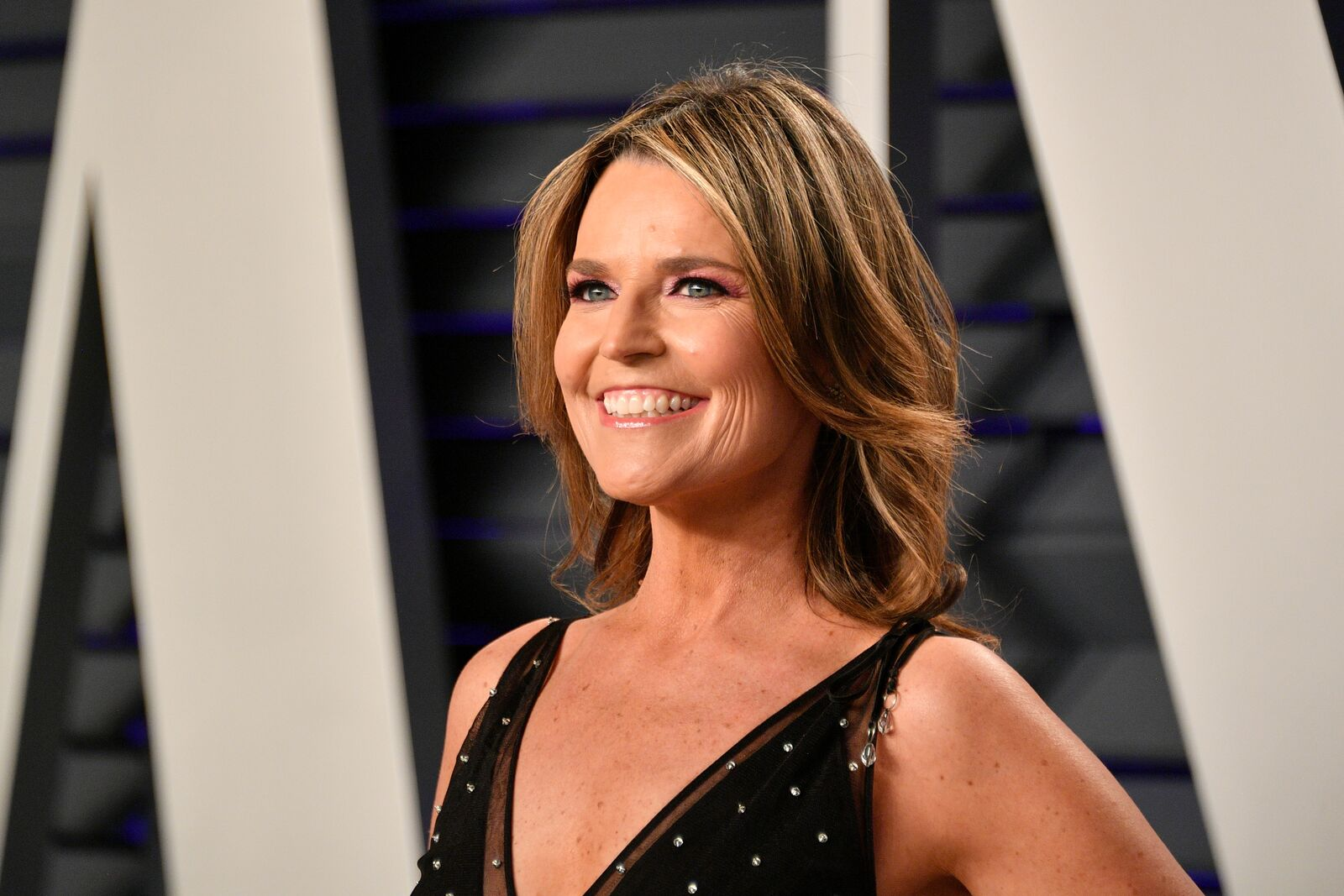 Savannah Guthrie at the Vanity Fair Oscar Party on February 24, 2019, in Beverly Hills, California | Photo: Dia Dipasupil/Getty Images