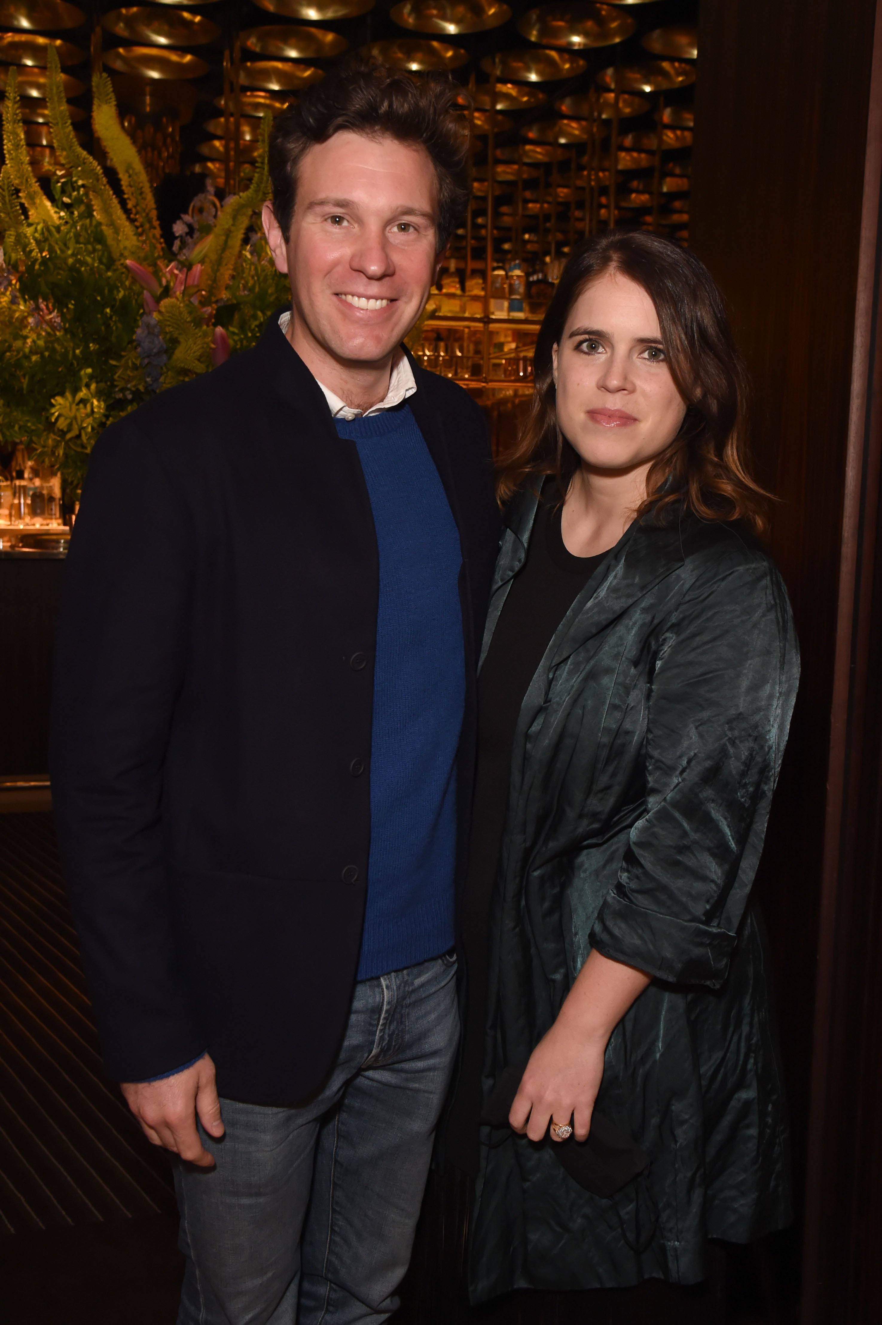 """Jack Brooksbank and Princess Eugenie attend an exclusive dinner hosted by Poppy Jamie to celebrate the launch of her first book """"Happy Not Perfect"""" at Isabel on June 22, 2021 in London, England 