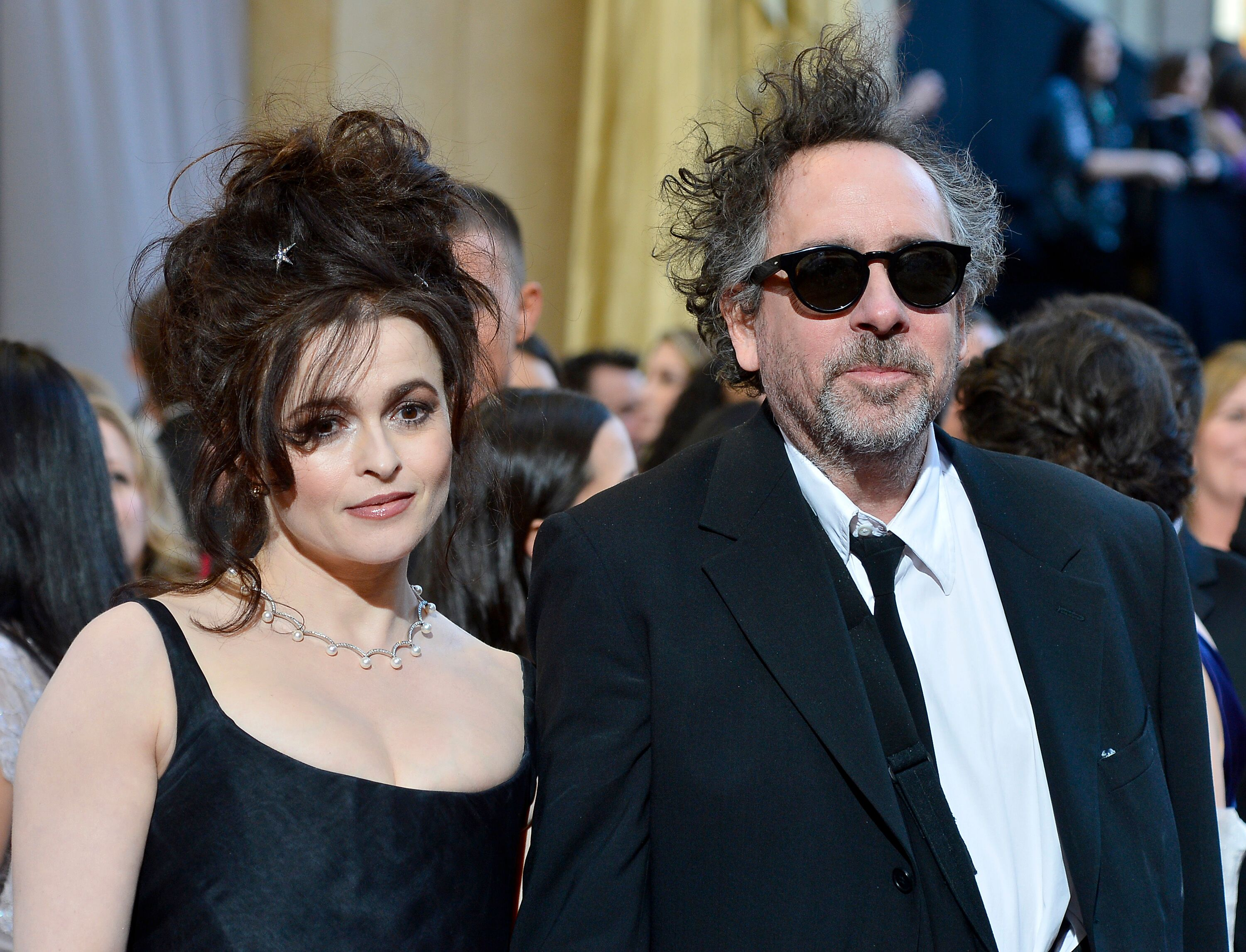 Actress Helena Bonham Carter and director Tim Burton at the Oscars on February 24, 2013. | Source: Getty Images