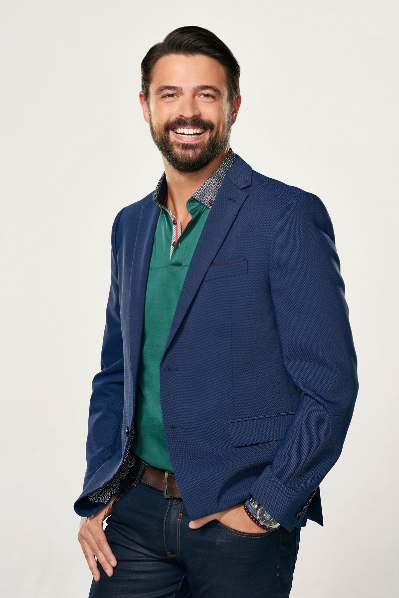 """John Gidding in a photoshoot for """"Home Free"""" on June 6, 2015 
