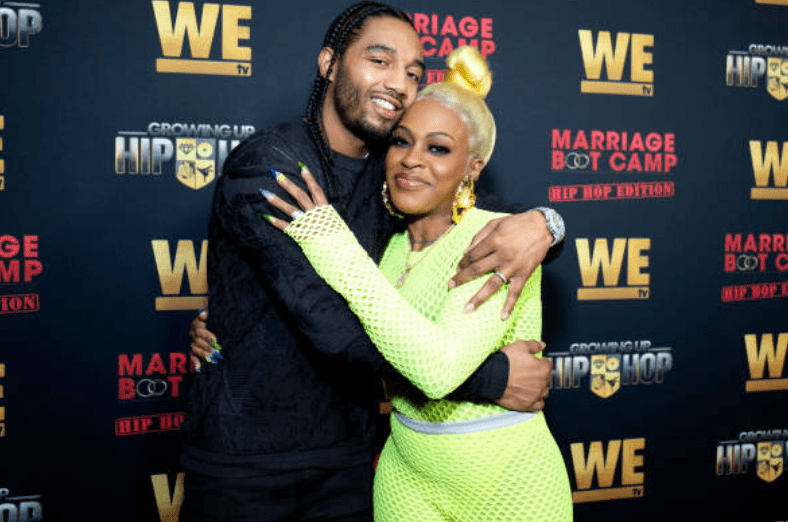 Karl Dargan and Lil Mo embrace on the red carpet for the premiere for 'WE TV hosts Hip Hop Thursday's, on January 09, 2019, in West Hollywood, California | Source: Santiago Felipe/Getty Images