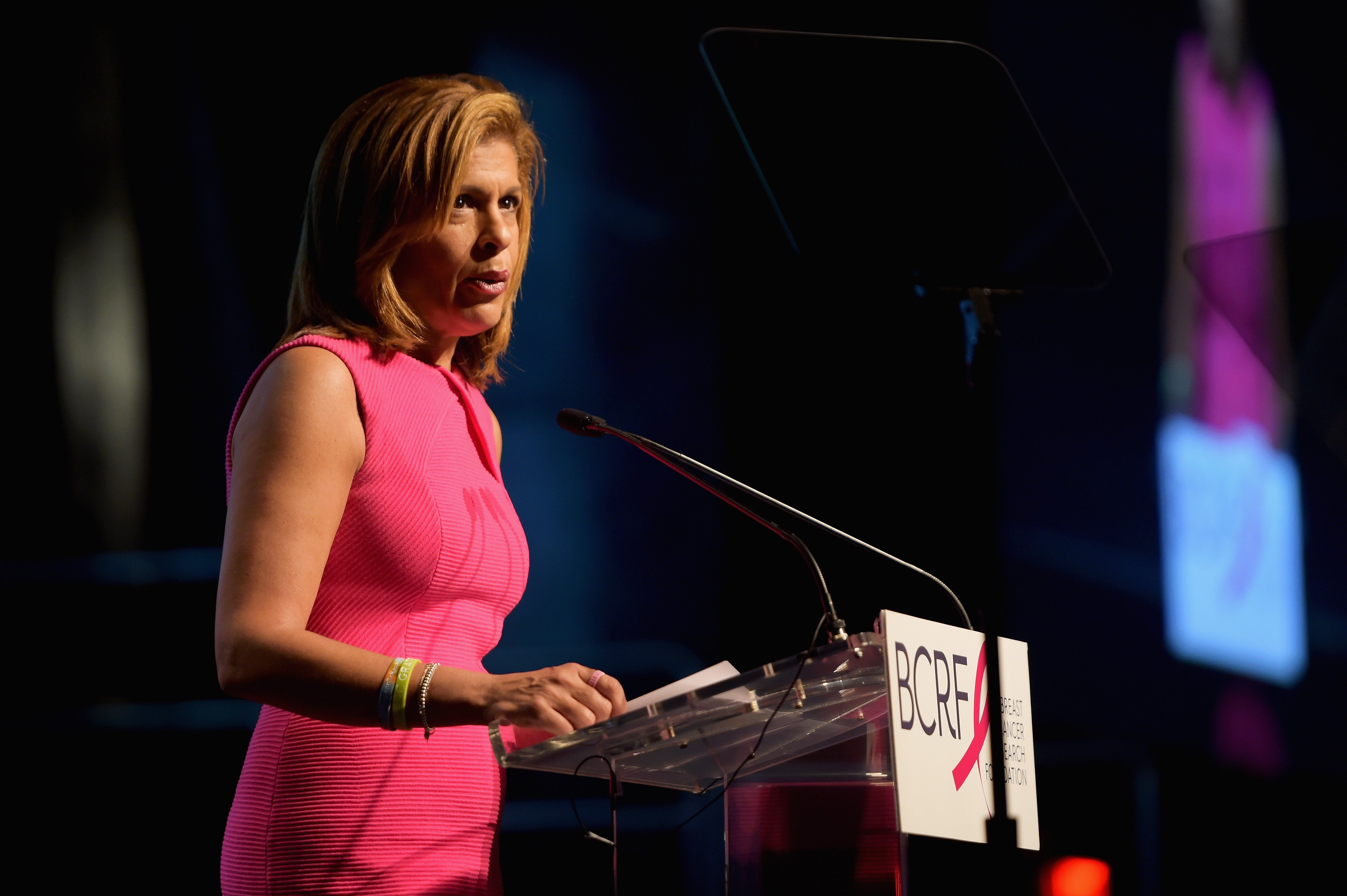 Hoda Kotb speaks onstage at the Breast Cancer Research Foundation New York Symposium and Awards Luncheon at New York Hilton on October 19, 2017 in New York City   Photo: Getty Images