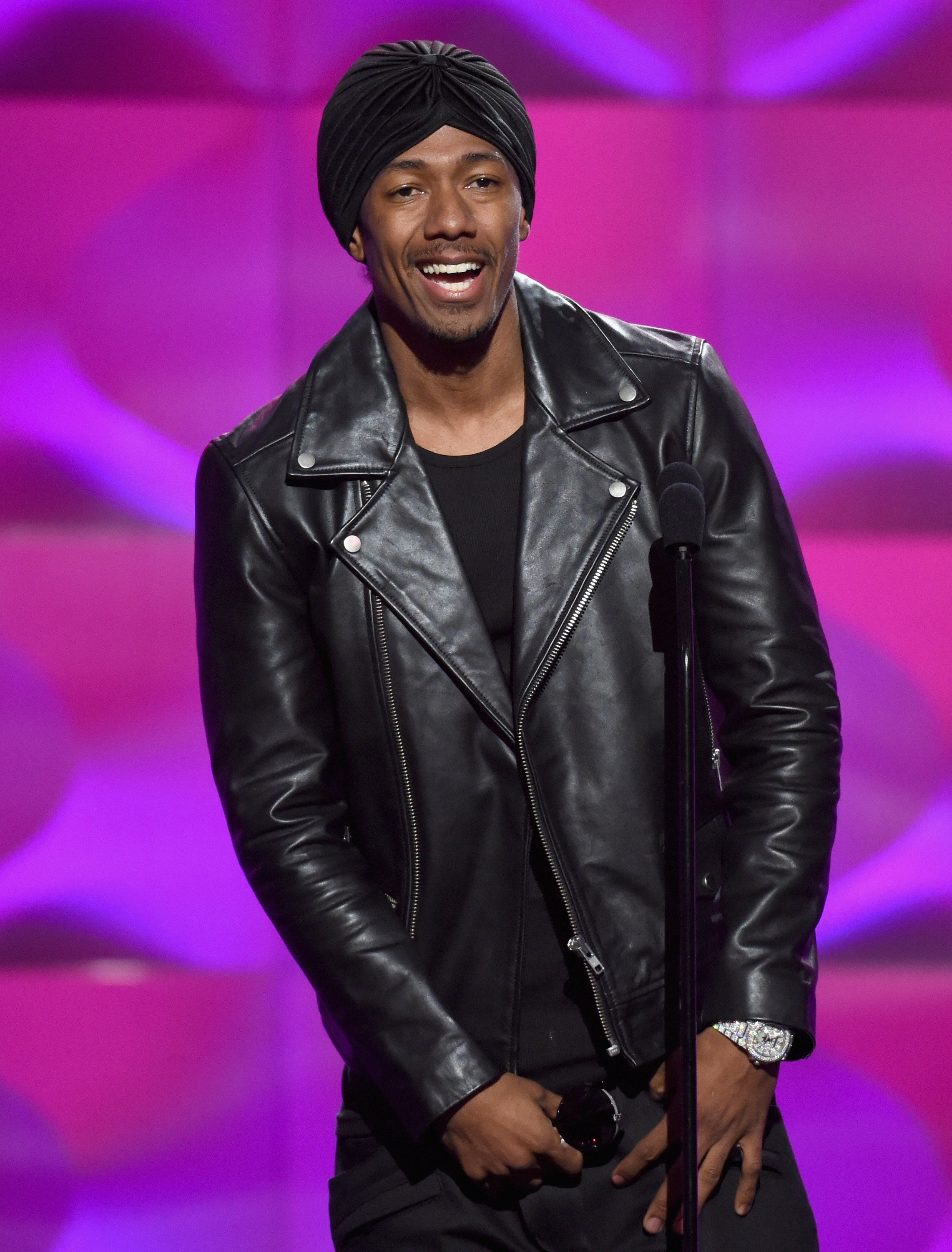 Nick Cannon on stage at the 2017 Billboard Women in Music event in November 2017. | Photo: Getty Images