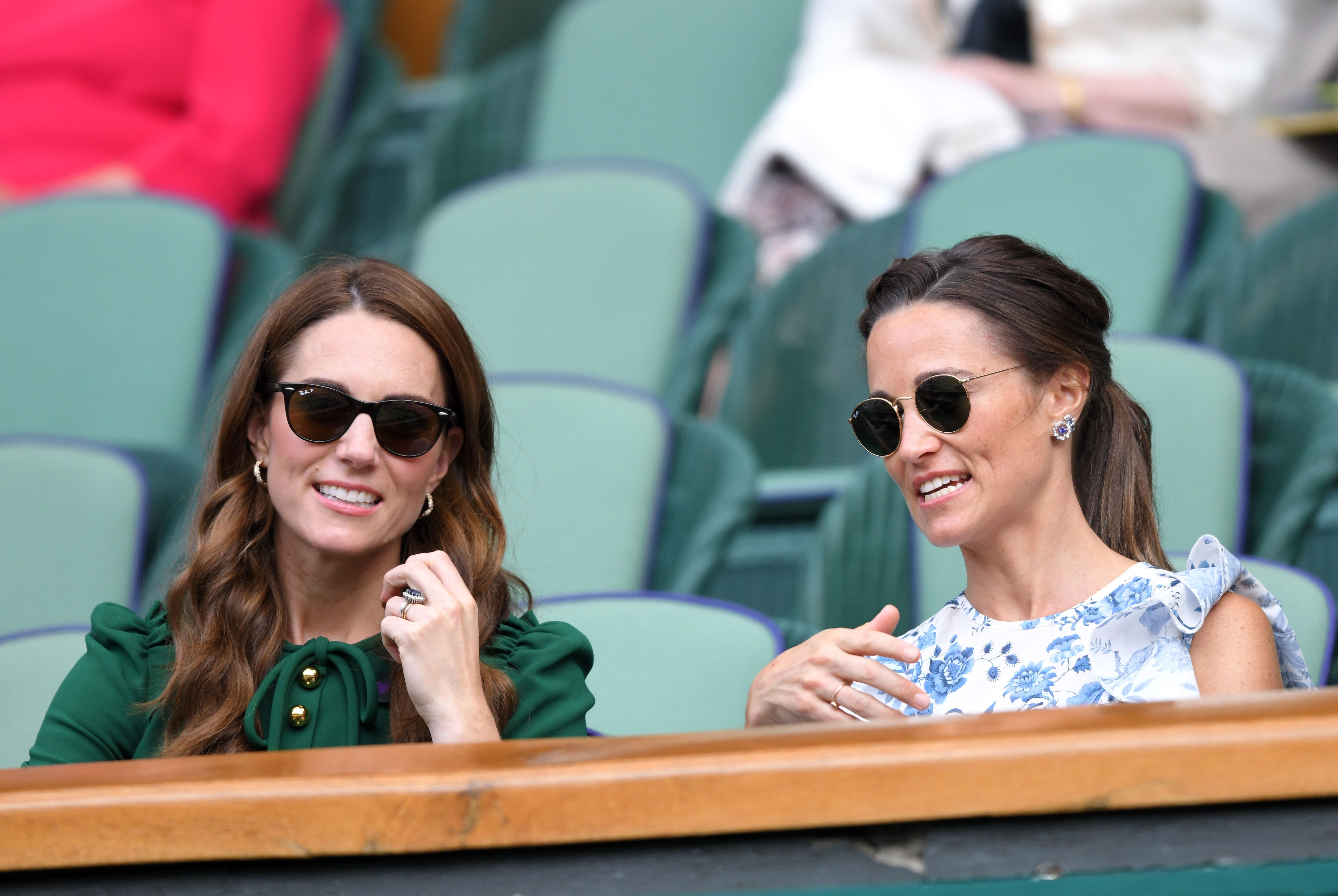 Kate Middleton and Pippa Middleton in the Royal Box on Centre Court during day twelve of the Wimbledon Tennis Championships at All England Lawn Tennis and Croquet Club on July 13, 2019 | Photo: Getty Images