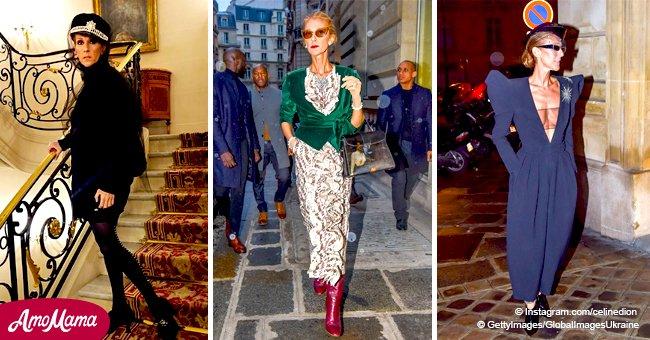 Céline Dion: ses meilleurs look durant la semaine de  mode a Paris quand elle a changé son style