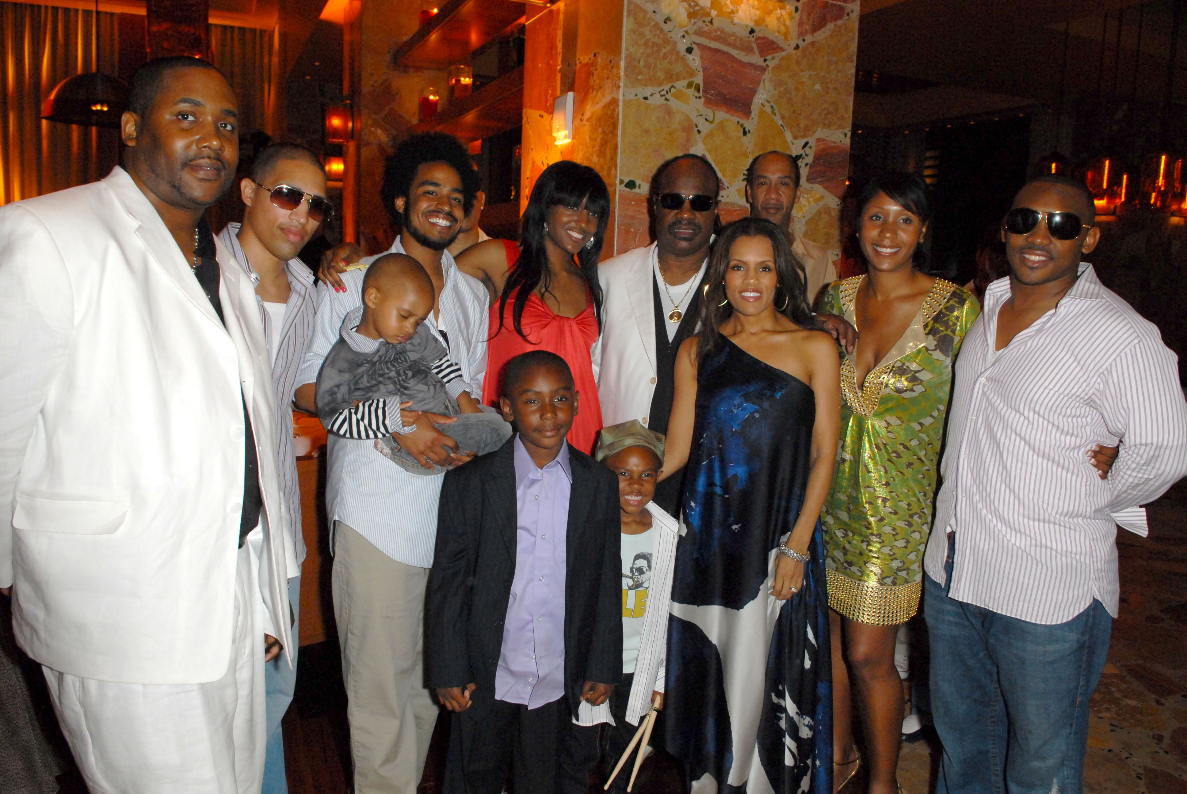Stevie Wonder and his family attend Sol Kerzner's 57th birthday celebration at The Cove Atlantis Resort on Paradise Island   Source: Getty Images