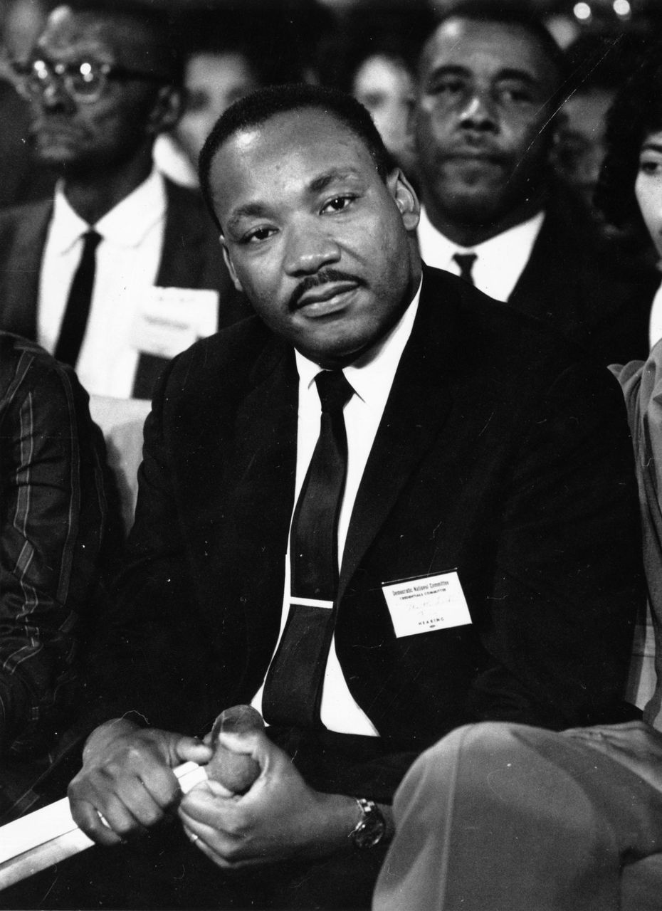 American clergyman and civil rights campaigner Martin Luther King (1929 - 1968).   Source: Getty Images